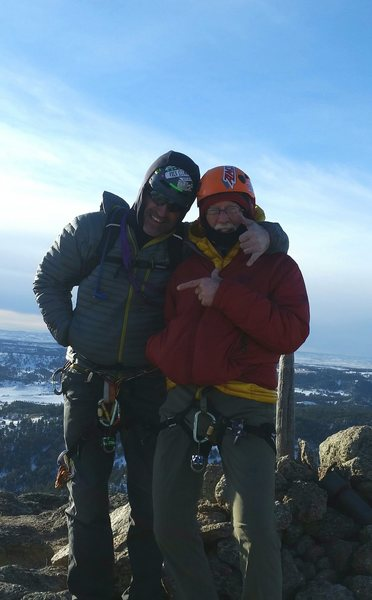 December summit with my brother Frank and Coney.. COOL AND BRISK !!