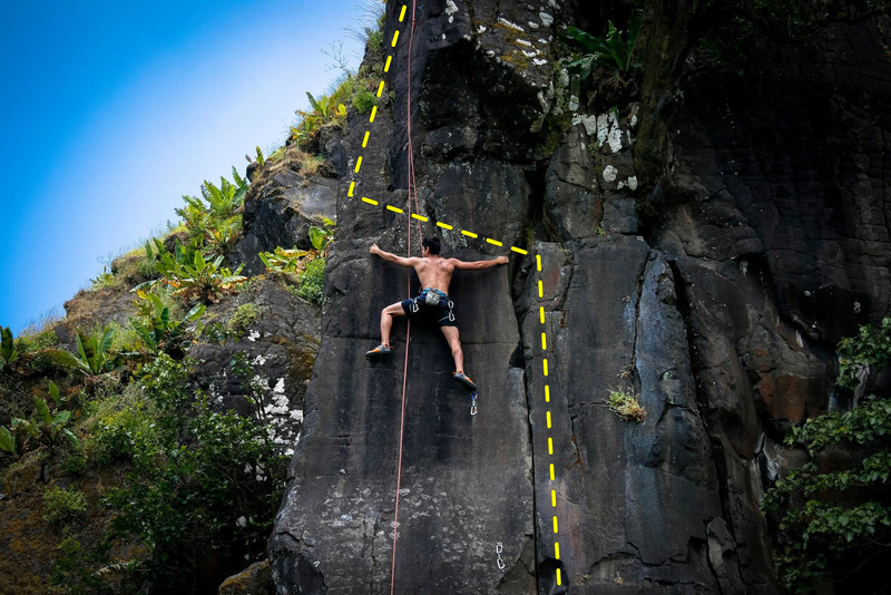 Da Vinci climbed by Zaeem Bootwala