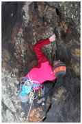 Rock Climbing Photo: Assessing loose rock as you go is key. Think a lit...