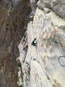 Rock Climbing Photo: Pretty healthy runouts so don't mess up.