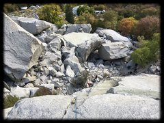 Rock Climbing Photo: Looking down the route