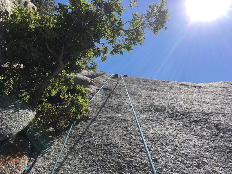 The last section of Hatchet Crack.  This climb has lots of variety