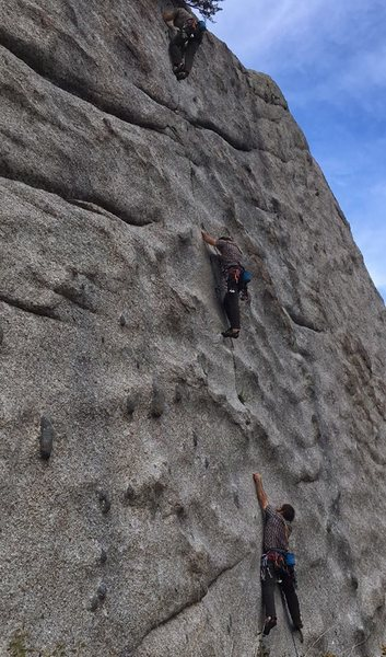 Rock Climbing Photo: Triplets on the same route.