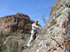 Rock Climbing Photo: Starting P2 of Twinkle Toes (Larry Arthur photo)