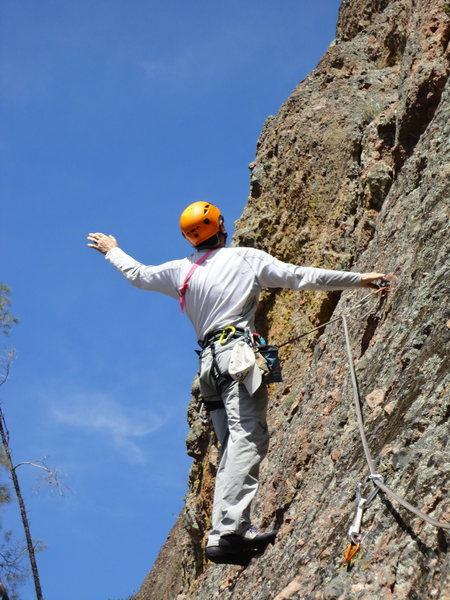 Rock Climbing Photo: Holding THE Handhold.....