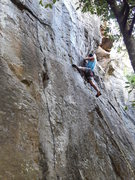 Rock Climbing Photo: great mix of crimps, pockets, jugs and stemming.