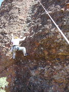 """Rock Climbing Photo: At the crux of """"Once Around the Backside&quot..."""