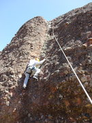 Rock Climbing Photo: Cruising to the anchors