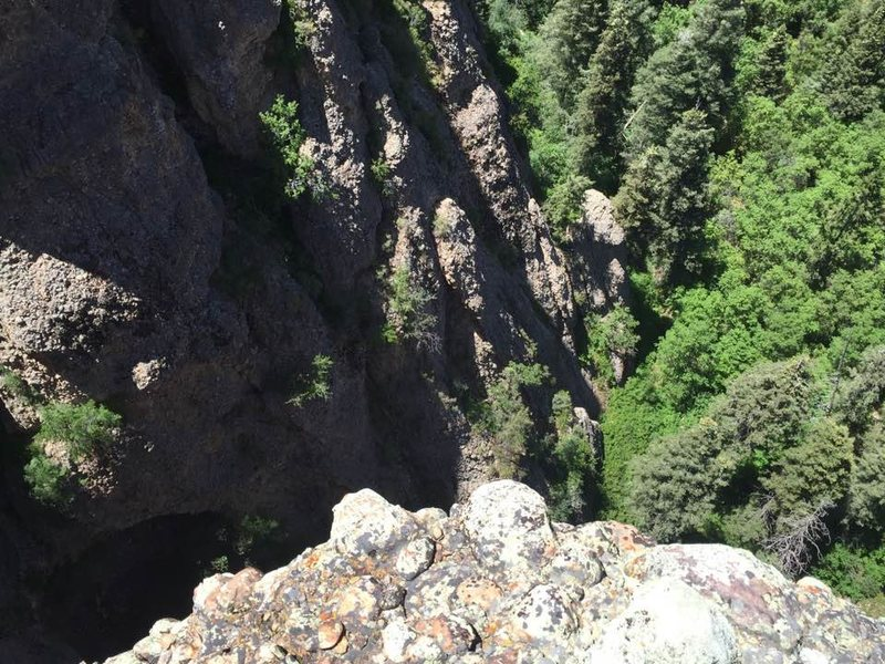 Rock Climbing Photo: pic from the top of Great Chasm