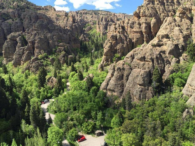 Maple Canyon from the top of Grecian Highway