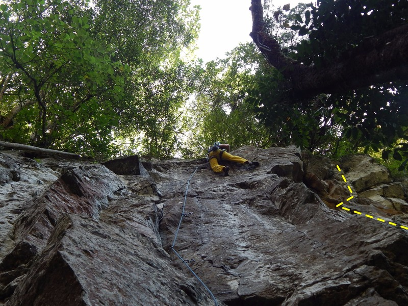 "Rock Climbing Photo: Climber is on the ""Avispon Negro"""