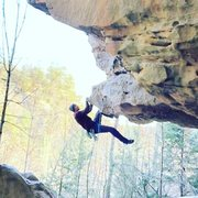 Rock Climbing Photo: Recovery after dyno start