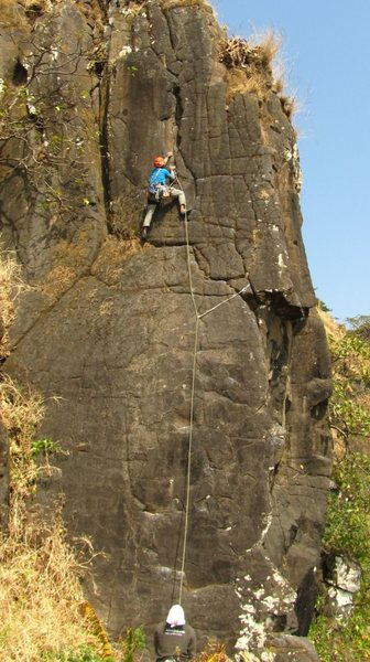 Young and DYnamic trad ascent by Samiran Kolhe.
