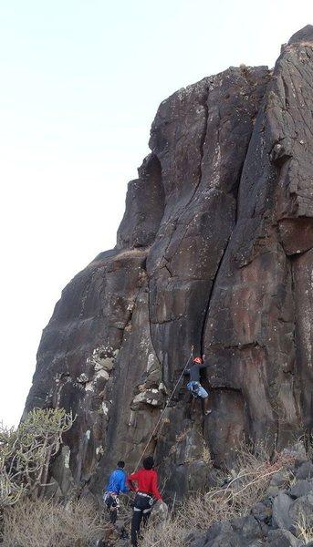 Samiran climbing Kalavantini