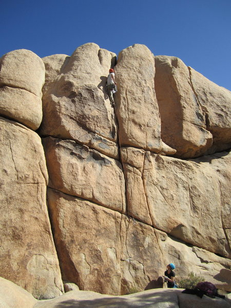 Rock Climbing Photo: Tricamus enjoying the upper hand crack