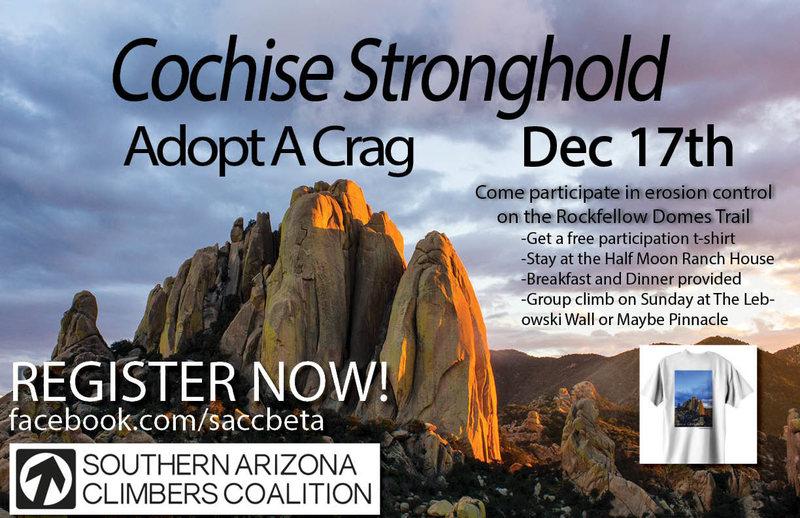 Dec 17th Cochise Adopt A Crag