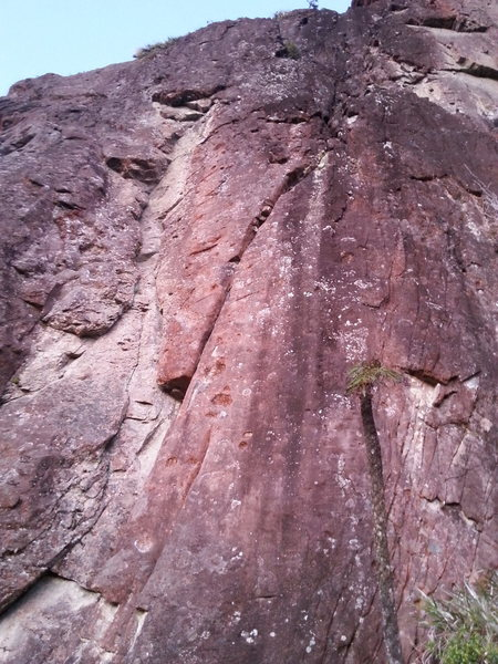 Rock Climbing Photo: The obvious right trending hand crack