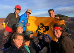 Rock Climbing Photo: Sko Buffs! (11 people on the summit!)