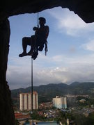 Rock Climbing Photo: Heading down after climbing my first multi pitch c...