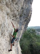 Rock Climbing Photo: Eli at the beginning of El Pelotero Malo, soon to ...