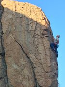 Rock Climbing Photo: Mike Arechiga on, Hocus Pocus 5.10b