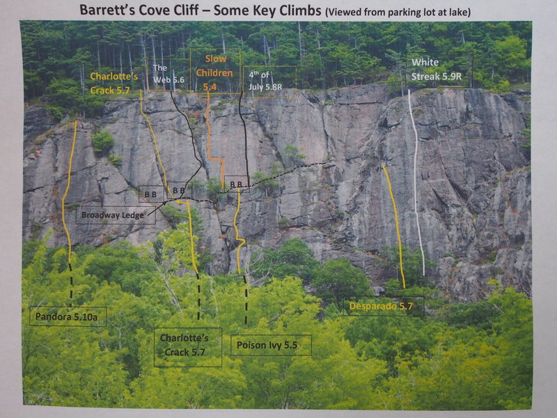 Rock Climbing Photo: Barrett Cove Cliff