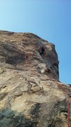 Rock Climbing Photo: Climbing the Thumb at Horseman center in Apple Val...