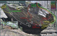 Trailside, <br />Corner Rock Bouldering Guide, <br />2016