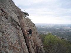 Rock Climbing Photo: Barritt on pirates 2006