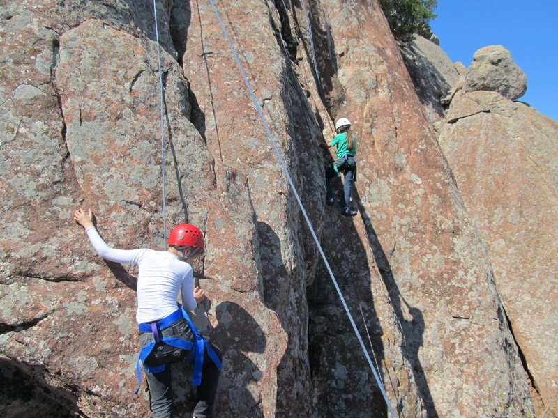 Rock Climbing Photo: Devin Miley on foolish, Tristan Allen in the foreg...