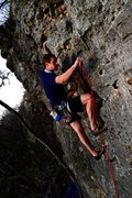 Rock Climbing Photo: climbing Reimers at the Serpent wall. Antivenin 5....