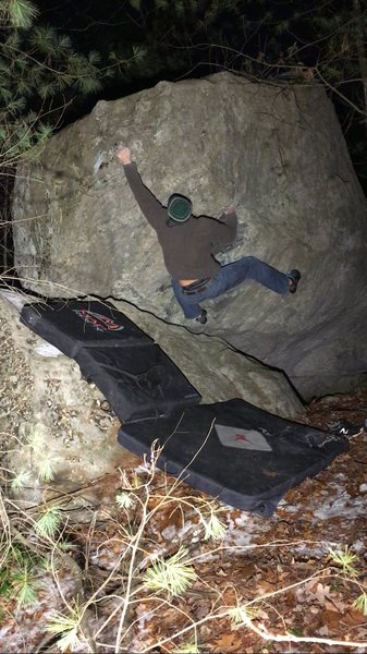 Rock Climbing Photo: The first move.