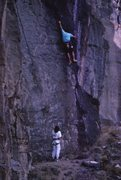 Rock Climbing Photo: Mike Schillaci on the first ascent of PMS, Novembe...