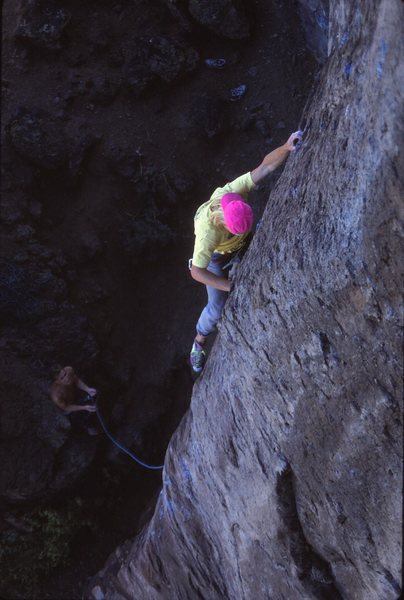 Tom Henricksen on an early ascent, 5/90
