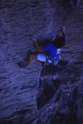 Rock Climbing Photo: Brian Riepe on the first ascent of Flesh Eating Gn...