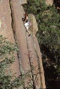 Rock Climbing Photo: Craig McLaughlin, Pickpocket, 11/89