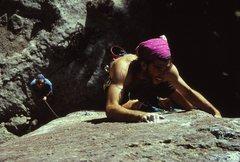 Rock Climbing Photo: Mike Schillaci on Monkey Lust, 1989