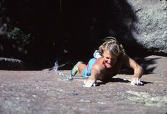 Rock Climbing Photo: Chris Goplerud on Empty and Meaningless, 1989
