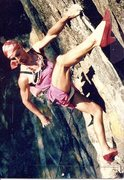 Rock Climbing Photo: Cam Burns (aka Betty Tendonblaster) on Flying Time...