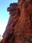 Rock Climbing Photo: This is the start of pitch one. Not the obvious cr...
