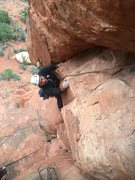 "Rock Climbing Photo: Entering the ""Sandy Pod"" section. Sandy,..."