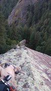 Rock Climbing Photo: Midway up Angel's Way, Summer 2015.