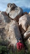 Rock Climbing Photo: At the Roomona with a View. The route follows the ...