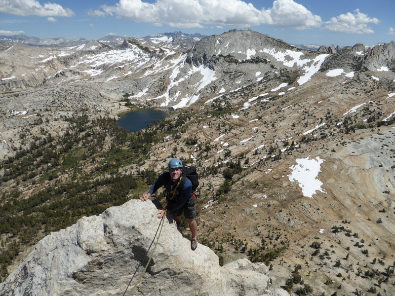 Rock Climbing Photo: Daniel ready to step across the gap to the small s...