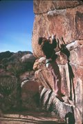 Rock Climbing Photo: Me doing the double dyno start to the High Noon.  ...