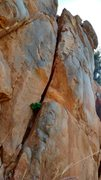 Rock Climbing Photo: The starting crack, as seen from the start of Vawt...