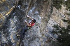 Rock Climbing Photo: Phil styling the start.