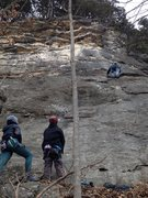 Rock Climbing Photo: Greg Coats with Neil and Katy Guinn