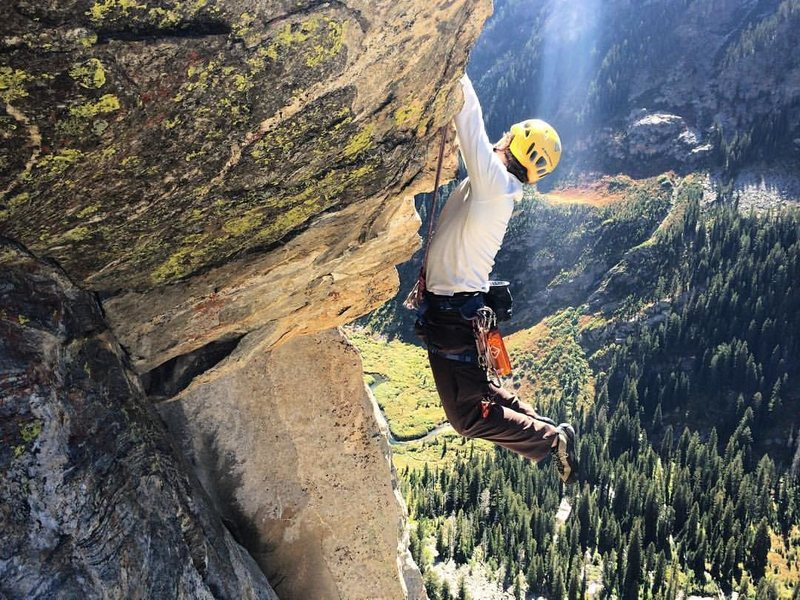 Rock Climbing Photo: The correct beta for the 5.10 roof pitch
