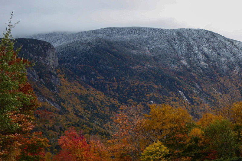 First snowfall of the year, over peak foliage. October 2016